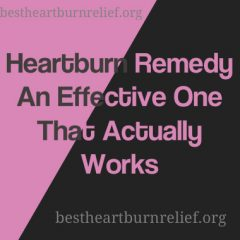 Heartburn Remedy